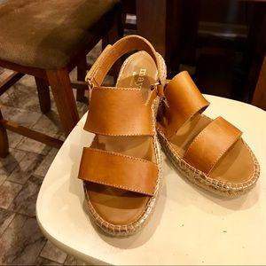 30175973879 ... Anthropologie Maypol Leather Sandals Euro 37 ...